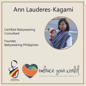 Fresh from the UK, mommy Ann is the mommy of BWP. She is the founder of the group. She talked about sling DIY and she offered free Babywearing consultation that day.