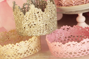 Glittery lace crowns